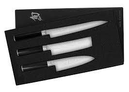 amazon com shun pro 3 piece boxed asian chef set boxed knife