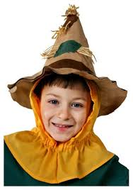 childrens wizard costume child patchy scarecrow hat kids wizard of oz costume accessories