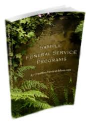 Programs For Memorial Services Samples Sample Funeral Service Programs