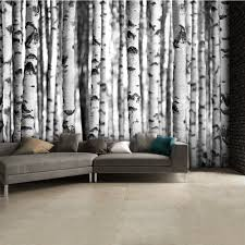 texture murals black and white birch trees wall mural 315cm x 232cm