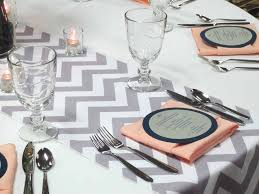 Grey Chevron Table Runner Planning Tip 2014 Wedding Color Trends In Nebraska Elite Events