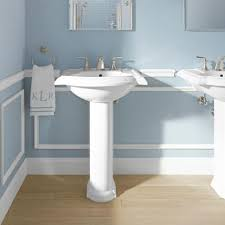 Rough In For Pedestal Sink Bathrooms Design Kohler Vox Square Vessel Sink Leaf Trough