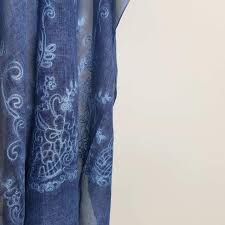 Navy Blue An by Athenian Washed Cotton Scarf U2013 Kobomo