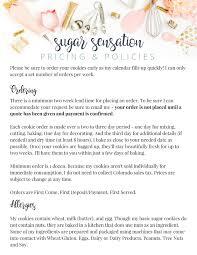 cookie pricing sugar sensation custom cookie creations