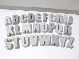 Sheep Home Decor Concrete Alphabets Concrete Letters For Home Decor Or Office