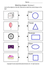 matching object with shape brain teaser worksheets 2