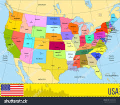 Chicago Map Of Usa by Usa Map States And Capitals United States Of America States Usa