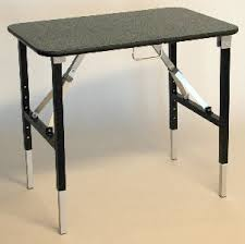 small sturdy folding table grooming tables