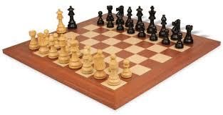 Unique Chess Set French Lardy Staunton Chess Set In Ebonized Boxwood U0026 Boxwood With