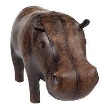 Hippo Ottoman Omersa Hippo Handcrafted Leather Footstool Ottomans Apt Ideas