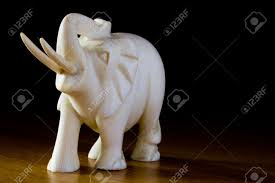 ornament of ivory elephant tradition stock photo picture