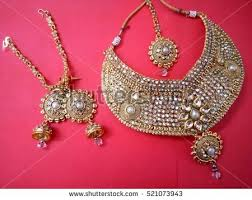 indian bridal necklace sets images Traditional indian bridal necklace set necklace stock photo jpg