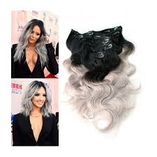 can ypu safely bodywave grey hair silver grey clip in human hair extensions
