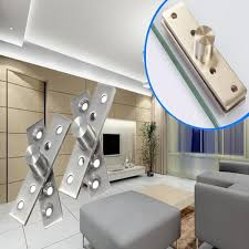 glass door pivot hardware 2pcs 360 degree door pivot hinge hardware silver 74mm length