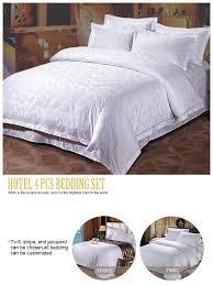 china wholesale luxury white cotton hotel jacquard bedding