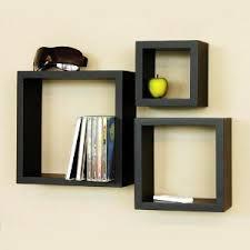 Wood Shelves For Walls by Wooden Cube Wall Shelves Set Of 3 Wall Shelves Homeshop18