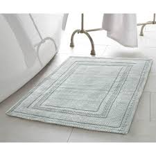 Aqua Bathroom Rugs Jean Stonewash Racetrack 21 In X 34 In Cotton Bath Rug In
