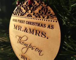 personalized christmas ornaments wedding christmas ornament etsy