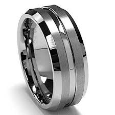 wedding band recommendations 8mm men s black titanium ring wedding band with stainless steel