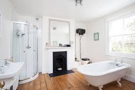 bathroom design cozy freestanding tub with pergo flooring and