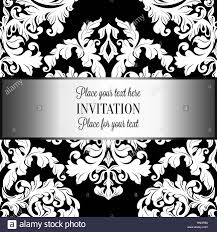 baroque background with antique luxury black and white vintage