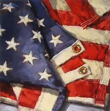 Our Flag Karen Werner Fine Art Stars U0026 Stripes An American Flag Oil Painting
