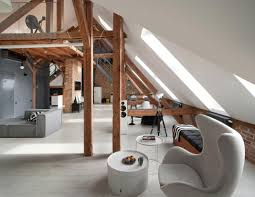 Attic Apartment by Contemporary Attic Apartment In The Poznań City Center By Cuns