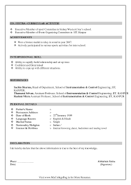 sample resume format for freshers programmer resume doc format