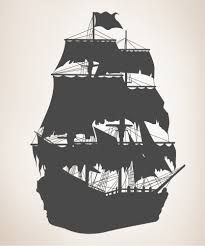 amazon com vinyl wall decal sticker pirate ship silhouette size amazon com vinyl wall decal sticker pirate ship silhouette size 36inx25in item os mb141s home kitchen