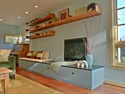 Lowes Floating Shelves by Floating Shelves Lowes Family Room Contemporary With Accent Wall