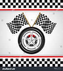 Images Of Racing Flags Design Element Automobile Race Car Tire Stock Vector 414105310