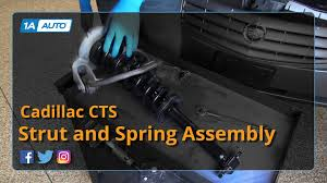 2007 cadillac escalade front struts how to replace install front strut assembly 06 cadillac cts
