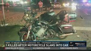 firstcoastnews com 1 killed after motorcycle slams into car