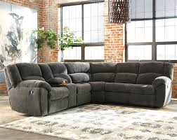 Sectional Sofa With Recliner Benchcraft Timpson Reclining Sectional With Storage Console