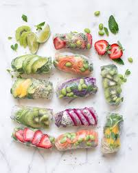 rice paper wraps where to buy rainbow summer rolls with peanut butter dipping sauce the healthy hour