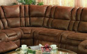 Sectional Sofa With Recliner Specially Treated Microfiber Sectional Sofa W Recliner