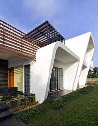 modern house design with inner courtyard house in india