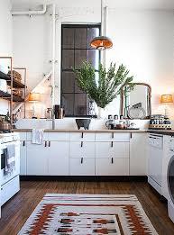 Kitchen Floor Runner by Trend Alert Desert Modern Interiors Classic White Kitchen