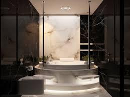 desain kamar mandi warna hitam putih desain marmer interior kamar mandi yang mewah dan menawan pusat
