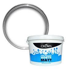 Matte White Bedroom Crown Pure Brilliant White Matt Emulsion Paint 10l Departments