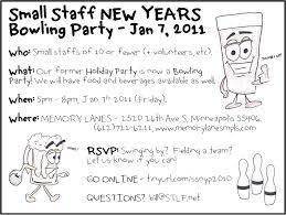 minnesota rising small staff new years bowling party