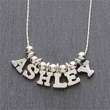 personalized necklace personalized silver necklace 5 8 letter name gifts