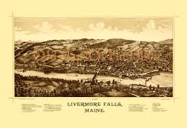 livermore falls me in 1889 bird u0027s eye view map aerial