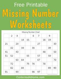 free math printables missing number worksheets number
