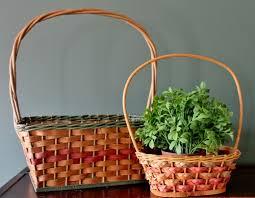 vintage easter baskets antique vintage basket price guide adirondack girl heart
