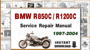 1997 2004 bmw r850c r1200c service repair manual youtube