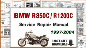 1997 2004 bmw r850c r1200c service repair manual youtube