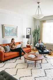 sofa tour best 25 orange sofa ideas on orange sofa design