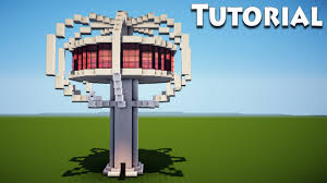 minecraft modern tree house tutorial how to build a cool house