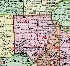 smyrna map cobb county 1911 map rand mcnally marietta kennesaw